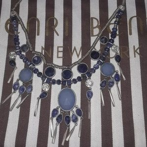 Henri Bendel Light blue Semi-precious Statement Ne